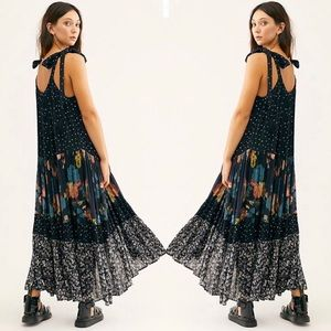 Free People Bare It All Printed Maxi Dress